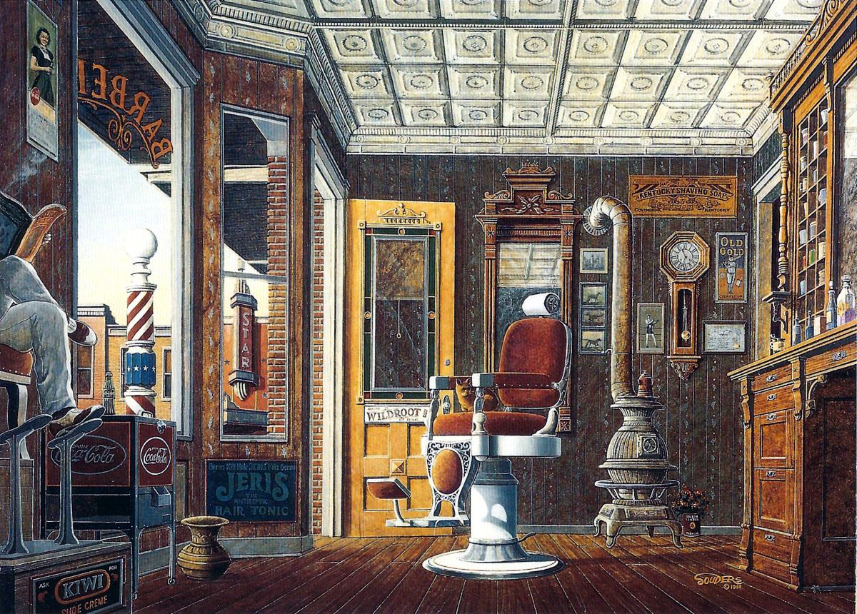 Barber Joint : Details about Barber Shop Tonsorial Razor Shaving Mug Wildroot Jeris ...